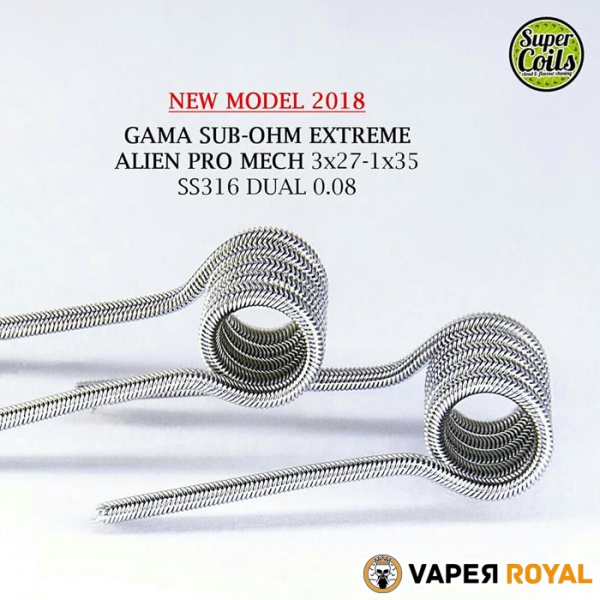 SuperCoil Gama Sub ohm Extreme Alien Pro Mech