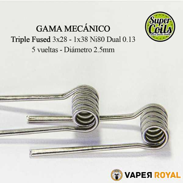 SuperCoils Gama Mecanico Triple Fused