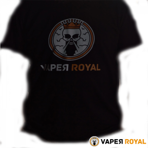 Camiseta Negra Vaper Royal